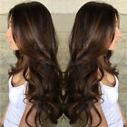 Pre Plucked 100 Peruvian Human Hair Lace Front Wig Dark Brown Straight Body Wave