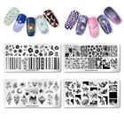 NICOLE DIARY Nail Stamping Plates Geometry Flower Leaf Summer  Template