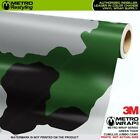 JUMBO CUMULUS GREEN TIGER Camouflage Vinyl Vehicle Car Wrap Camo Film Sheet Roll