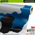 JUMBO CUMULUS BLUE TIGER Camouflage Vinyl Vehicle Car Wrap Camo Film Sheet Roll