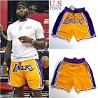 Lakers Basketball Team Shorts Lebron James Summer League Mens Size S-2XL