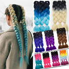 24'' Jumbo Twist Braids Synthetic Kanekalon Braiding Any Color Hair Extensions J