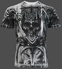 AFFLICTION Mens T-Shirt PLANET-X Skull WHITE Tattoo Motorcycle Biker UFC $58 NWT