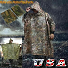 Waterproof Hooded Ripstop Festival Rain Poncho For Outdoor Camping Hiking