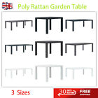 Poly Rattan Garden Table Outdoor Patio Balcony Dining Furniture Coffee