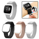 US Magnetic Loop Stainless Steel Band w/ metal frame For Fitbit Versa tracker
