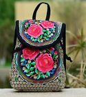 Fashion Women's Ethnic Canvas Drawstring Shoulder Bags Small Backpacks Teenager