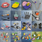 1Set Halloween Cartoon Enamel Lapel Collar Pin Corsage Brooch Xmas Jewelry Gift image