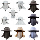 Outdoor Sun Protection Neck Face Cover Flap Cap Wide Brim Fishing Hat US STOCK