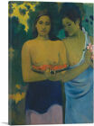 ARTCANVAS Two Tahitian Women 1899 Canvas Art Print by Paul Gauguin
