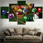 Billiards & Ball 5 panel canvas Wall Art Home Decor Poster Print $75.05 USD on eBay