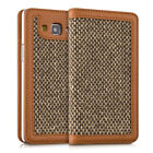 CASE WALLET STYLE DONNA FOR SAMSUNG GALAXY A5 (2015) COVER FLIP TWEED BAG CASE