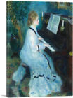 ARTCANVAS Woman at the Piano 1876 Canvas Art Print by Pierre-Auguste Renoir