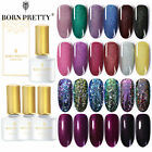 BORN PRETTY 6ml Nail Gel Polish Red Wine Shimmer Base Top Coat Nail Gel Varnish