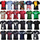 Men Avengers Superhero Cartoon T-Shirt Compression Sport Running Jersey Tops Tee image
