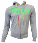 Sweatshirt Shirt Carlsberg Men Full Zip Hoodie Hood 100% Baumwolle Made in Ital