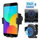 10W FAST QI Wireless Car Charger Charging Air Vent Mount Phone Holder Stand