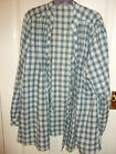 Green Blue and White check top/shirt by George Size 18