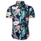 Summer Men's Fashion Shirt Short Sleeve Floral Print Hawaii Beach Wear Tops GIFT