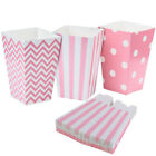 24pcs Striped Wave Dot Paper Popcorn Boxes Bags Candy Container Wedding Favour