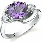 Oravo Sterling Silver Gemstone and Cubic Zirconia Round-cut image