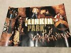 **2 LINKIN PARK RARE GERMAN MAGAZINE 2 PAGE PULLOUT POSTERS**