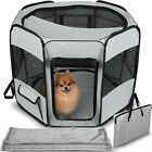Dog Playpen Mesh Portable Tent Exercise Crate Kennel Cage for Pet Cat w/ Blanket <br/> #1 Seller - Brand Name - New Design - Breathable Mesh