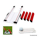 Golf Swing Trainer Shape Shots Swing Speed Trap Practice Mirror with Carry Bag