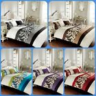 Luxury Scroll Design Duvet Quilt Cover Set With Matching Pillow Case All Sizes