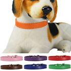 Adjustable Faux Leather Solid Color Dog Cat Puppy Neck Strap Pet Collar Code