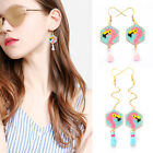 1Pair Flamingo Seed Beads Earrings Handmade Woven Earring Jewelry Accessories GI