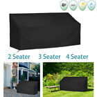 2/3/4 Seater Swing Chair Hammock Cover Outdoor Garden Furniture Protector Black
