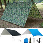 10x10ft Waterproof Camping Tent Tarp Shelter Hammock Cover Rain Fly +Tent Stakes
