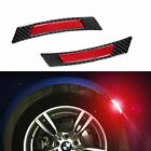 Carbon Fiber Red Power Reflective Wheel Eyebrow Edge Protection Stickers NEW