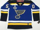 New Jordan Binnington #50 St. Louis Blues 2019 Stanley Cup Finals Jersey Blue