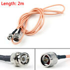 2m RG142 Cable BNC Male Plug To N Male Straight Crimp Coax Pigtail 6ft PY