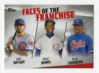 2019 Topps Series 2 #FOF-6 Faces Of The Franchise Bryant, Sandberg, Banks ~ Cubs