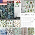 Tropical Polyester Fabric Waterproof Bathroom Curtains Decor with 12 Hooks GIFT