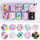 10Rolls/Set Nail Foils Colorful Flowers Butterfly Nail Art Transfer Stickers DIY
