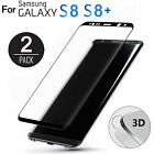 2 Packs Tempered Glass Full Cover Screen Protector For Samsung Galaxy S8/S8 Plus