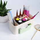 Nail Art Brush Pen Tool Storage Box Colorful Multi-Function Compartments Tools