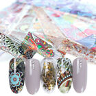 Nail Foil Stickers Flower Retro Series Transfer Decals for Nail Art Decoration