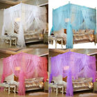 Bow Four Corner Post Bed Canopy Mosquito Netting Or Frame/Post Twin Full Queen image