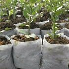 100x Round Fabric Seedling Pot Plant Nursery Pouch Root Containr Grow Bag Garden