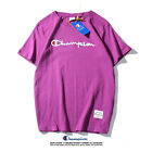12 Color Women'S Men'S Champion T-shirt Classic  Summer Embroidered Short Sleeve