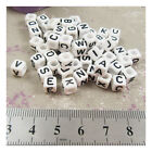 ALPHABET LETTER ACRYLIC BEADS 7mm CRAFTS CUBE BEADING JEWELLERY CHILDREN PARTY