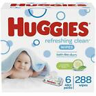 HUGGIES Refreshing Clean Scented Baby Wipes, Hypoallergenic, 10 Flip-top Packs,
