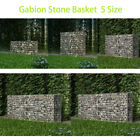 Gabion Stone Basket Outdoor Garden Patio Fench Wire Retaining Wall Steel 5 Sizes