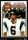 1979 Topps #483 Rolf Benirschke Chargers Cal-Davis 7 - NM $1.75 USD on eBay