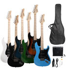 New Glarry 6 Colors GST Stylish Electric Guitar Kit with Black Pickguard